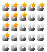 Star rating template — Stock Vector