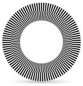Checkered circle, abstract shape — Stock Vector