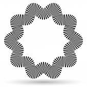 Wavy checkered round shape — Stock Vector