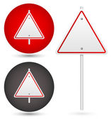 Trianglular road signs set — Stock Vector
