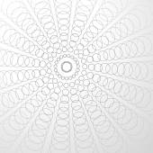 Abstract radiating circles background — Stock Vector