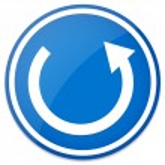 Circular arrow, roundabout road sign. — Stock Vector #68190593