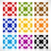 Set  repeatable geometric backgrounds — Stock Vector