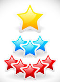 Colorful rounded stars — Stock Vector