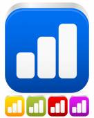 Growing bar-chart, bar-graph icon — Stock Vector