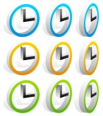 Clock set for concepts related to schedule — Stock Vector