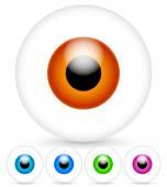 Bright modern eyes — Stock Vector