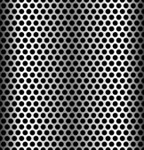 Seamless perforated metal background — Stock Vector