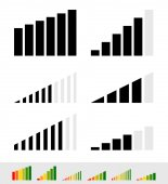 Annan signal styrka indikatorer — Stockvektor
