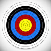 Printable Archery, Arrow Target — Stock Vector