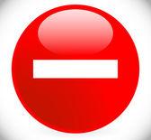 Prohibition  Restriction Sign, Icon. Do not enter, No Entrance — Stock Vector