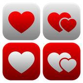 Heart icon set. — Stock Vector
