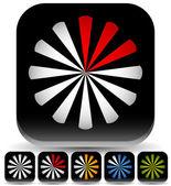 Preloader, buffer symbols icons, progress indicators — Stock Vector
