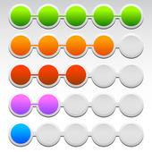 Progress colorful  Indicators — Stock Vector