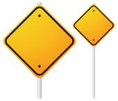 Blank Orange Roadsigns with empty space — Stock Vector