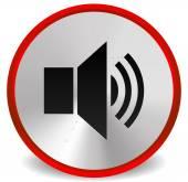 Metallic Red Speaker — Stock Vector
