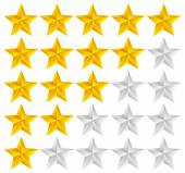 5 Star Rating System. — Stock Vector