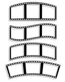 Set of Filmstrip silhouettes with different distortion effect. — Stock Vector