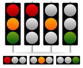 Traffic Lamp set. — Stock Vector