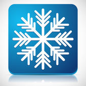 Snowflake Icon for Cold Weather or Cold Concepts — Stock Vector