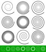 Spiral elements Set — Stock Vector