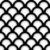 Minimal Circle Pattern - Overlapping Circles — Stock Vector