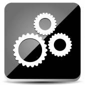 Sleek Gear Icon — Stock Vector