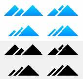 Mountain Peak Symbols — Stock Vector