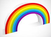 Three Dimensional Rainbow Element — Stock Vector