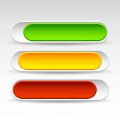 Rounded Horizontal Power Buttons. — Stock Vector