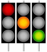 Traffic Lights, Semaphores — Stock Vector