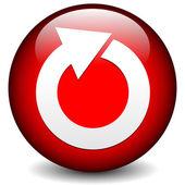 Red circular arrow icon. — Stock Vector