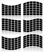 Set of Flat Video Walls — Stock Vector