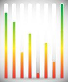 Vertical level indicator set — Stock Vector