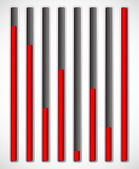 Vertical level indicators. — Stock Vector