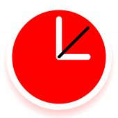 Editable clock with hours — Stock Vector