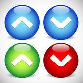 Arrow, Arrowhead Icons. — Stock Vector