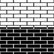 Set of black and white brick wall — Stock Vector #70340887