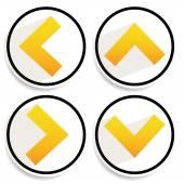 Orange, yellow arrows — Stok Vektör