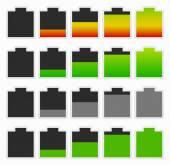 Set battery level indicators. — Stock Vector
