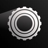 Gear wheel, rack wheel — Stock Vector