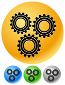 Various gear wheel set — Stock Vector