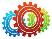 Various gear wheels — Stock Vector