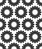 Various gear wheels pattern — Stock Vector
