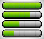 Progress, Loading Bars — Stok Vektör