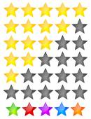 Star Rating Element. — Stock Vector