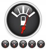Fuel, gas meter elements — Stock Vector