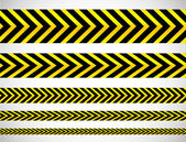 Repeatable yellow tapes — Stock Vector