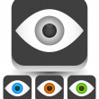 Постер, плакат: Eyeball graphics in different colors