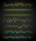 Wavy, zigzag lines. — Stock Vector